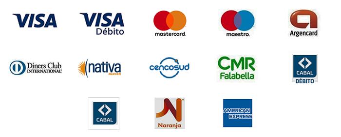 pago con tarjetas de crédito y débito
